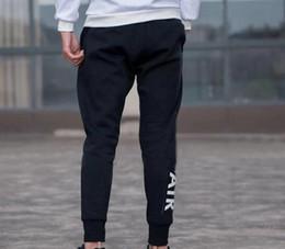 Ropa para correr online-Pantalones deportivos de marca Logo de marca Joggers para hombre con letras Pantalones de chándal elásticos Jogging Ropa S-3XL
