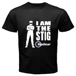 Argentina Nuevo logo del programa de televisión de Top Gear * Soy la camiseta negra para hombre Stig Talla S a 3XL Camiseta para hombre 2017 Manga corta Moda Personalizada Tallas grandes Equipo Suministro