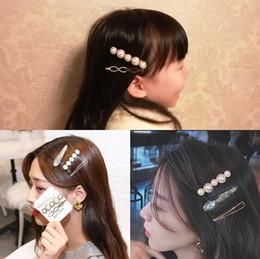 3 Pz / set Imitazione Perla Metallo Geometric Clip di Capelli Morsetti Hairband Barrettes Bobby Pin Tornante Copricapo Accessori Strumenti Per Lo Styling Bellezza da capelli barrette fatti a mano fornitori