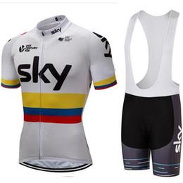 2019 camisa do céu da equipe Homens de roupas de bicicleta sky team pro ciclismo quick dry jersey jardineiras bermudas equitação terno desgaste da bicicleta camisas ropa ciclismo mtb moda sportwear camisa do céu da equipe barato