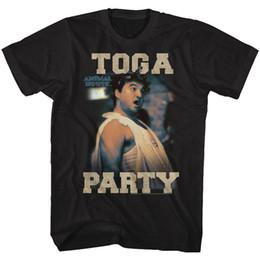 Pantalones negros altos online-Camiseta de Animal House Tall Toga Party Animal Black Tee fan pants camiseta