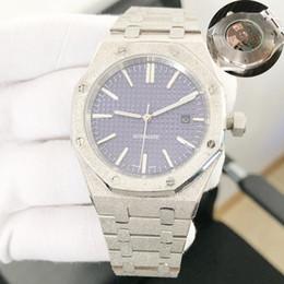 Mechanischer stil kunst online-Die automatischen mechanischen Uhren der Luxusmänner klassischer Art 42mm volles Edelstahlarmband hochwertige Armbanduhren Saphir super leuchtend