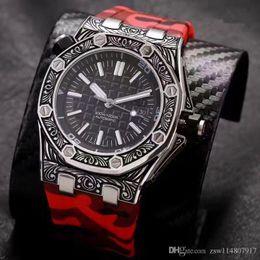 2019 ленточные часы Механические часы с механизмом Рельефный рельефный бренд мужские наручные часы высшего качества Носить цветную ленту дешево ленточные часы