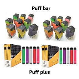 cigarettes cartridges Coupons - Puff Bars Puff Plus Disposable Device Vape Kit With Security Code 280mAh 550mah Battery 1.3ml 3.2ml Cartridge Empty E Cigarette Kits