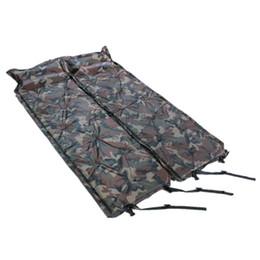 Letti camuffamento online-Cuscino gonfiabile all'aperto del camuffamento con il doppio cuscino del cuscino Camping Anti-stuoia a prova di sonno singolo verde portatile Inflat Bed 36tzD1