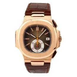 Relógios automático on-line-De alta qualidade Relógios Mens Watch Relógios Mecânicos Automáticos Masculino relógio de aço inoxidável Real de couro direto da Fábrica