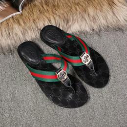 Canada Date Marque De Luxe Hommes Femmes Imprimer En Cuir Sandale Frappant Gladiator Style Designer En Cuir Semelle Extérieure Parfait Plat Toile Plaine Sandale 35-46 supplier canvas sandals men Offre