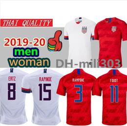 camisolas uniformes mulheres Desconto 2019 Copa do mundo América Camisa De Futebol Dos Estados Unidos Camisa 19 20 EUA PULÍSTICO LLOYD KRIEGER homens mulher Uniforme de Futebol Feminino tailandesa qualidade