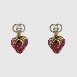 2019 borchie di diamanti dell'annata Gioielli di designer di orecchini a bottone con orecchini a forma di orecchini con orecchini a forma di diamante con diamanti rossi vintage per regalo da donna per donna borchie di diamanti dell'annata economici