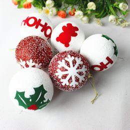 2019 espuma bola de natal enfeite 3Pcs Espuma Christmas Ball Christmas Decorations Árvore Pingente Festa Enfeites espuma bola de natal enfeite barato