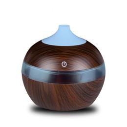 300ML USB Diffuseur d'huiles essentielles d'huiles essentielles Humidificateur d'air frais à ultrasons Purificateur d'air Purificateur 7 Changement de couleur LED Veilleuse pour la maison ? partir de fabricateur