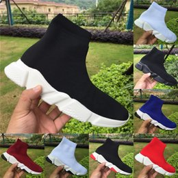 2019 лучшие женские туфли на платформе Высокий носок обуви роскошные скорость тренеры Бегун лучшее качество черный белый синий Мужчины Женщины Повседневная обувь дизайнер туфли на платформе США 5-11 дешево лучшие женские туфли на платформе