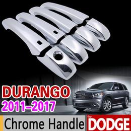 Dodge Durango için aksesuarlar 2011-2017 Lüks Krom Kolu Kapak Trim Seti 2012 2013 2014 215 2016 Aksesuarları Sticker Araba Styling cheap car handle stickers nereden araba kolu çıkartmaları tedarikçiler