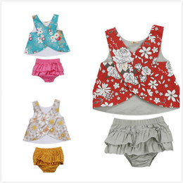 Gilet pantalone infantile online-Flower Neonate Abbigliamento Outfit Abbigliamento Top T-Shirt Tutu Pantaloncini Pantaloni Set Toddler Infant Girl Flower Lovely Soft Clothing