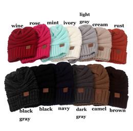 2019 cappello di lana dell'orecchio del gatto nero Inverno maglieria di lana cappello caldo giornaliero Slouchy Beanie Calotta Sikye Uomini Donne Warm Crochet Inverno LANA sci Beanie ouc40