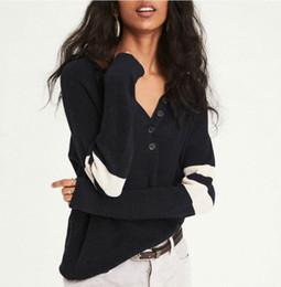 50e55e96dd Women T-shirt Striped V Neck Vertical Stripes Casual Plus Size Buttons S-  XL Long Sleeve American Fashion Tops vertical striped shirt women on sale