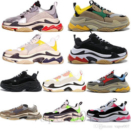Luxus 2019 Triple S alten Papa Schuhe Tripler Turnschuhe grün klare Sohle chaussures Retro Scarpe Frauen zapatos Männer hommes hombre zapatillas