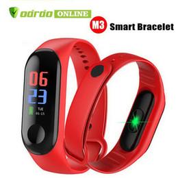 M3 Smart Bracelet Fitness Tracker Cardiofrequenzimetro Orologio da polso Pressione sanguigna per iPhone Cellulari Android PK XIAOMI MI BAND 3 in scatola da xiaomi mi box fornitori