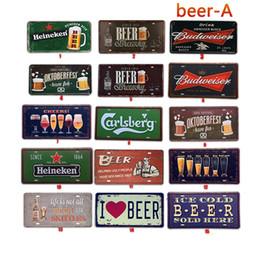 Artes do amor on-line-Sinal de lata de metal Eu Amo Cerveja Arte Da Parede Do Vintage Retro Velho Pintura de Parede Bar Moda Pub Restaurante Decoração de Casa TTA1691
