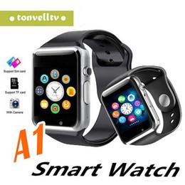 2019 pantalla táctil redonda reloj deportivo 1 PCS Bluetooth Smart Watch A1 Reloj de pulsera Hombre Sport iwatch style watch para IOS Apple Android Samsung smartphone
