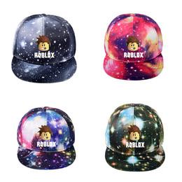 2020 sombreros de moda de verano Kids Trendy Summer Caps Hot Game Roblox Impreso Cap Unisex Casual Sombreros Niños Niñas Sombreros Fiestas infantiles Juguete Sombreros Regalo de cumpleaños sombreros de moda de verano baratos