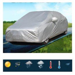 réflecteur universel de voiture Promotion Universal UV Etanche Extérieure Plein Air Auto Couverture Auto protection solaire couvre Silver Pour la voiture réflecteur poussière pluie neige protectrice