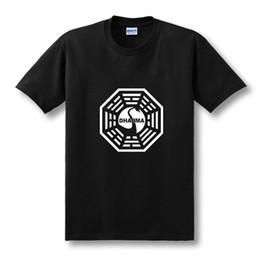2019 série de tv americana Série de TV americana LOST Iniciativa Dharma T Shirt Dos Homens de Fitness de Algodão de Manga Curta T-shirt Tops Tees Camisetas Masculinas XS-XXL série de tv americana barato