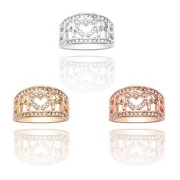 fascino della mamma dell'oro Sconti Moda creativa Hollow cuore lettera anello MOM Carving Ring Popolare ragazza oro argento fascino gioielli festa della mamma gioielli regalo