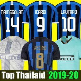 2cab40e381d ICARDI LAUTARO Inter 2019 2020 Milan soccer jersey Mushup 20th anniversary  PERISIC NAINGGOLAN jerseys 18 19 20 football kit shirts