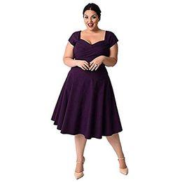 2019 mais tamanho saias redondas KILOLONE das mulheres decote redondo Floral Lace Top Plus Size Cocktail Party Midi Vestido A linha Saia desconto mais tamanho saias redondas