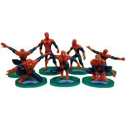 Argentina 7 estilos Spider-Man Cakes Hornear Arreglos decorativos Arreglos montados en autos Spider-Man Superhéroe Modelo hecho a mano Suministro