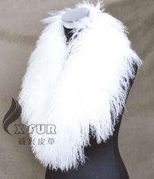 Bufanda de cordero online-COLLAR-S11 Prendas de moda de pelo largo Decaration Warmer Mongolian Lamb Collares de piel real Bufanda