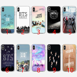Casos da música do iphone on-line-BTS bangtan meninos logotipo da música de silicone macio tpu phone case para iphone 5 5s se 6 6 s 7 8 plus x xr xs max capa