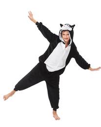 kinder tier onesie pyjamas Rabatt Kinder Tier einteilige Husky Kigurumi Pyjamas Weihnachten Kostüm mit Kapuze Cosplay-Strampler