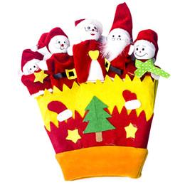 2019 детские желтые перчатки Рождество Ткань Искусство Перчатки Животных Взрослых Пальцев Пальцев Игрушки Праздничные Атрибуты Желтый Для Детей Детские Игрушки дешево детские желтые перчатки