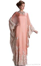 2019 vintage fuori dai vestiti della ragazza del fiore bianco 2019 Nuovo abito da sera in pizzo con maniche lunghe dubai decalcomanie vestito caftano moda dubai abbigliamento arabo Party Dresses072