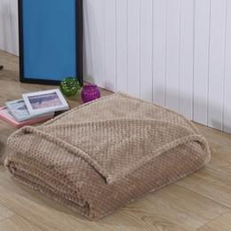 Одеяло кроватки мальчика онлайн-Baby Soft Crib Outdoor Stroller Props Newborn Receiving Decorative Boys Girls Infant Unisex Toddler Coral Fleece Blanket Fluffy