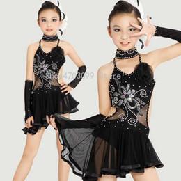 Robes de style latin en Ligne-2019 nouveaux modèles Robes de danse latine pour enfants Pour le style paillettes Cha Cha Dance Vêtements Enfants Costume