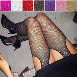Corpi di rete online-Donne sexy Designer Cristalli Stocking Womens Net Fishnet Corpo Diamante Calze modello collant collant di Natale Calze Sock Strass