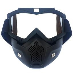 2019 maschera di protezione del motociclo Occhiali da moto di ciclismo Aggiornamento Moto Caschi Maschera Occhiali staccabile Off-road Sci Maschera di accessori universale maschera di protezione del motociclo economici