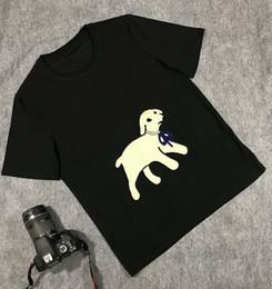 Halskette t-shirts online-2019 Italien Europa Sommer Strass Diamant-Halskette Lamm Tuch T-Shirt Art und Weise Männer Frauen-Qualitäts-Designer-T-Shirts Spitzen T