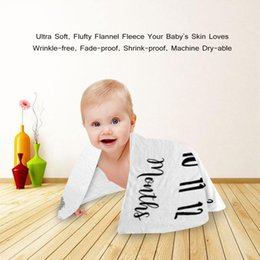 2019 migliori coperte per bambini Bambino mensile Milestone Super Soft coperta da 1 a 12 mesi Best Baby Shower regalo fotografia coperta Full Age Ceremony Gift sconti migliori coperte per bambini