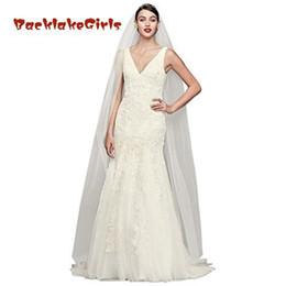 Argentina Vestido de novia estilo sirena con cuello en V y cuentas supplier pearl dresses mermaid style Suministro