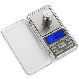 Argentina Pantalla LCD electrónica Mini escalas digitales 100/200/300 / 500g X0.01g Joyas de bolsillo Básculas de peso de alta precisión Pesar equilibrio Suministro