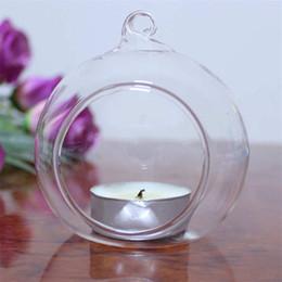 2019 luzes de chá de marfim Titular da vela de cristal de vidro pendurado moderno castiçal casa festa de casamento jantar decoração votiva titulares do vintage DLH215
