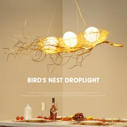 2019 candelabros pájaros Iluminación moderna de la lámpara para el comedor de la jerarquía del pájaro de oro Lámparas colgantes del lustre de cristal Colgantes del techo candelabros pájaros baratos