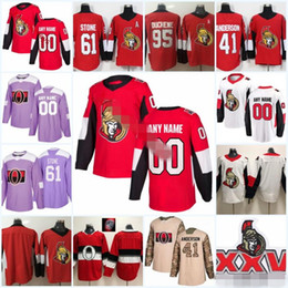 626f28ad2 Custom Men Women Youth Ottawa Thomas Chabot Matt Duchene Mark Stone Ryan  Dzingel Brady Tkachuk Bobby Ryan Senators Hockey Jerseys