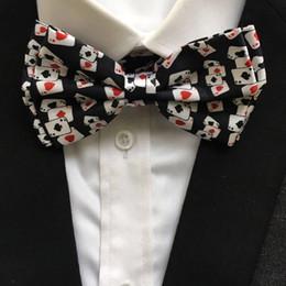 карточные покерные карты Скидка 10 Pcs/Lot Wholesale Unique Designer Adult Men Poker Bowties Male Play Cards Pattern Printed Bow Ties Butterfly