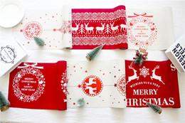 toalhas de linho de natal Desconto Toalha de Mesa de Natal de Ano Novo Toalha De Mesa De Linho À Prova de Poeira X-mas Toalha de Mesa de Jantar Em Casa Decoração Do Partido Pano De Linho DHL FJ406