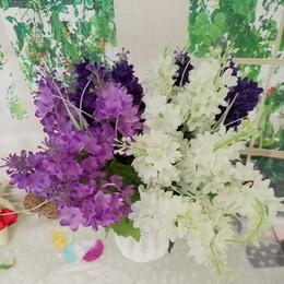 2019 lavendelausgangsdekoration Künstliche Gefälschte Lavendel Hyazinthe Seidenblume Hochzeit Brautstrauß Wohnkultur Künstliche Blume Garten Decor KKA7095 günstig lavendelausgangsdekoration